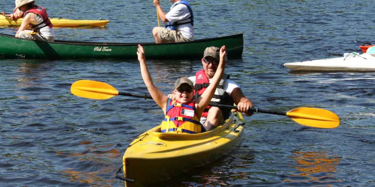 Tristan Bouchard paddles for Pine Tree Society