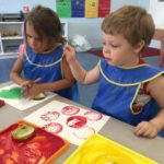 Exploring Apples in the Early Learning Center