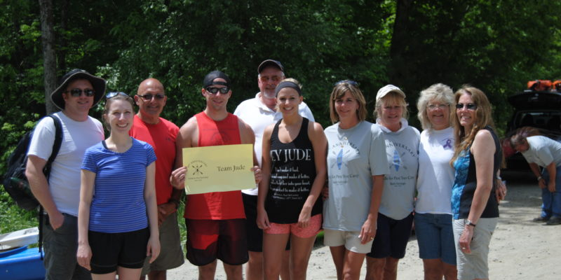 Team Jude will paddle again on June 3rd to support Pine Tree Camp