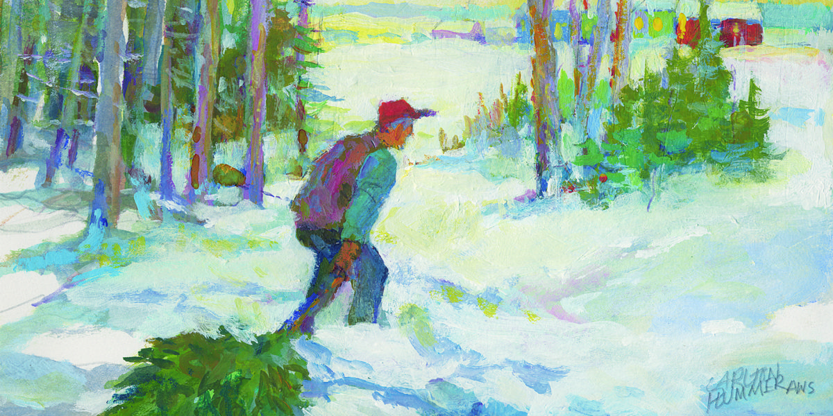 Homeward Bound painting by Carlton Plummer for Pine Tree Society
