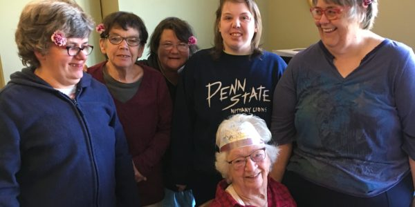 Pine Tree Society participants visit a memory care center