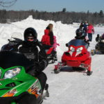 Snowmobile Ride-in for Pine Tree Camp