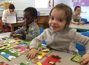 Early Learning Center puzzle time