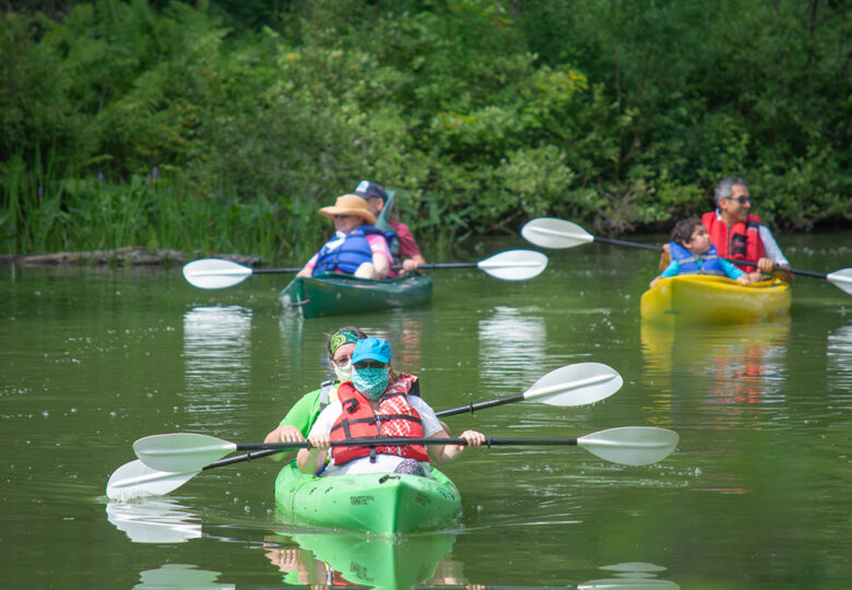 View Paddle for Pine Tree Camp in the Kennebec Journal
